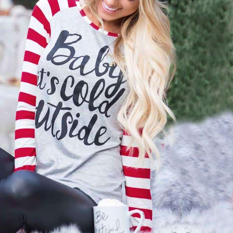 Baby It S Cold Outside Long Sleeve T Shirt Rhalyns