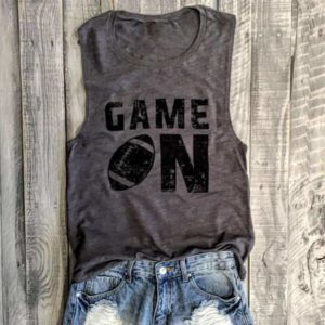 Game ON Tank Top Casual Sleeveless Shirt