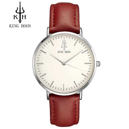 Ladies Watch Red Silver White