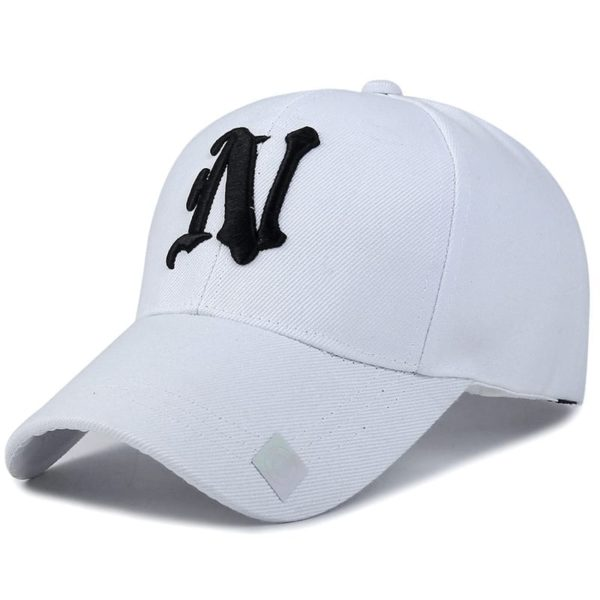 Baseball Cap Solid Color Leisure with N Letter Embroidered 3