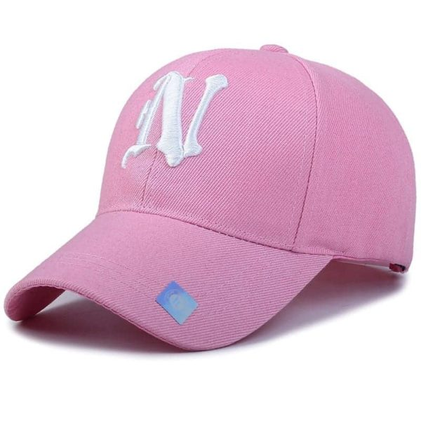 Baseball Cap Solid Color Leisure with N Letter Embroidered 5