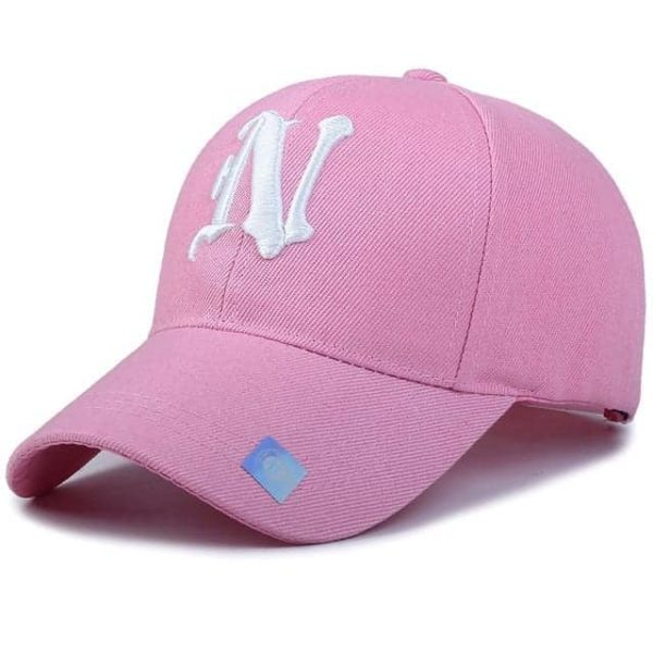 Baseball Cap Solid Color Leisure with N Letter Embroidered 11