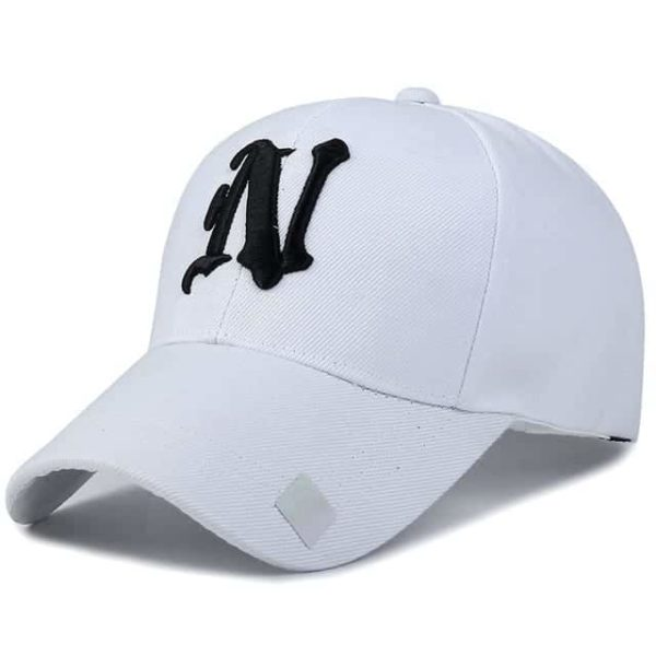Baseball Cap Solid Color Leisure with N Letter Embroidered 7