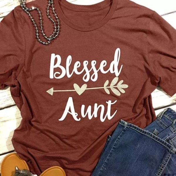 Blessed Aunt Heart Arrow T-Shirt