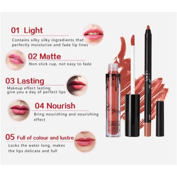 New Liquid Matte Lipstick Lips Pencil Makeup 1