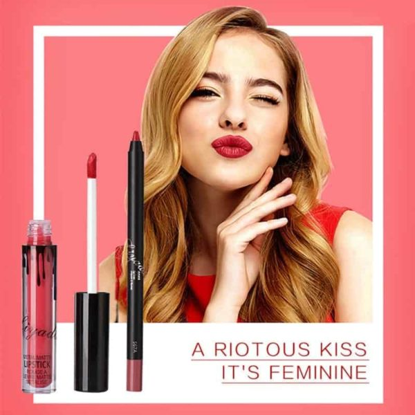 New Liquid Matte Lipstick Lips Pencil Makeup 3