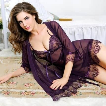 Nightdress Sexy Lingerie Lace Dress 5