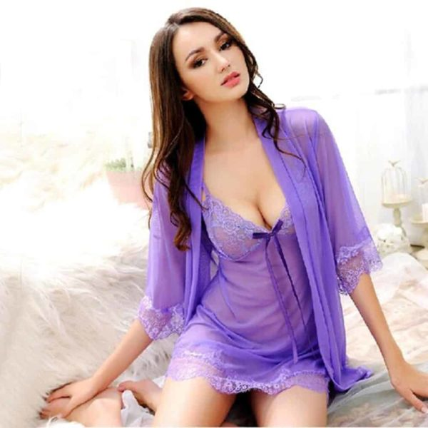 Nightdress Sexy Lingerie Lace Dress 1