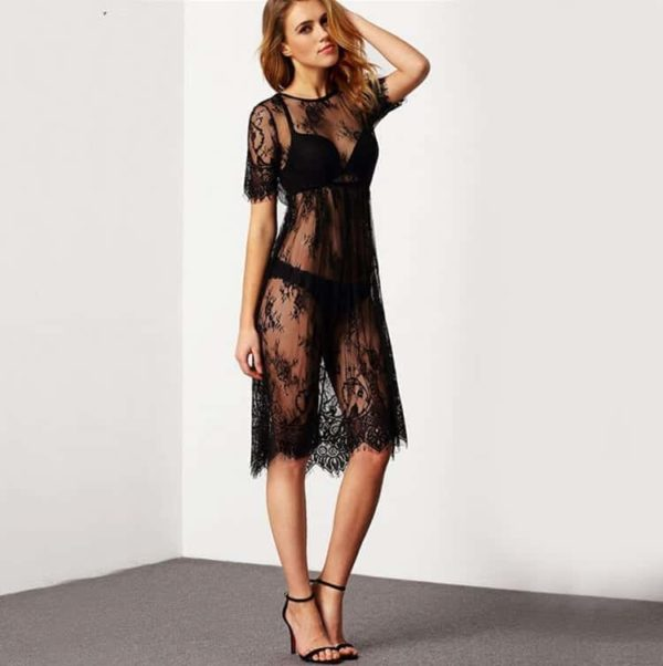 Sheer Lingerie Sleepwear Dress 2