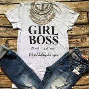 Girl Boss Fashion Top O-Neck Shirt