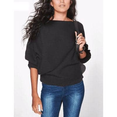 Casual Women Sweater Soft Pullovers Vintage Tops 1