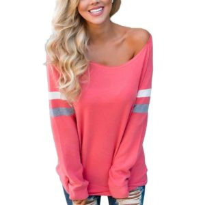 Sexy Women's Long Sleeve Splice Blouse