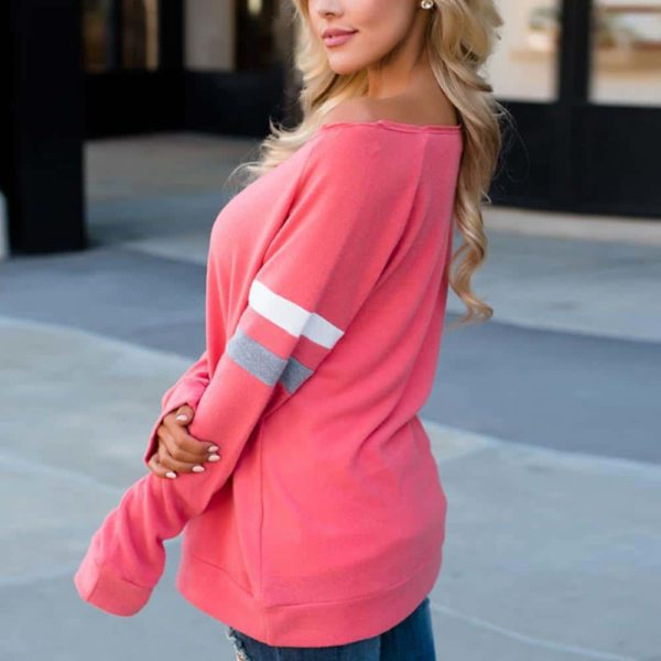 Sexy Women's Long Sleeve Splice Blouse 4