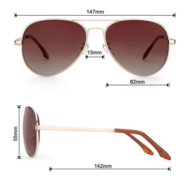 New Unisex Classic Sunglasses With Polarized Lenses For Street Fashion Style 4
