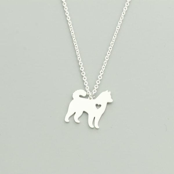 Lovely Pet Dog Necklace Animal Style Hollow Out Heart Jewelry 2