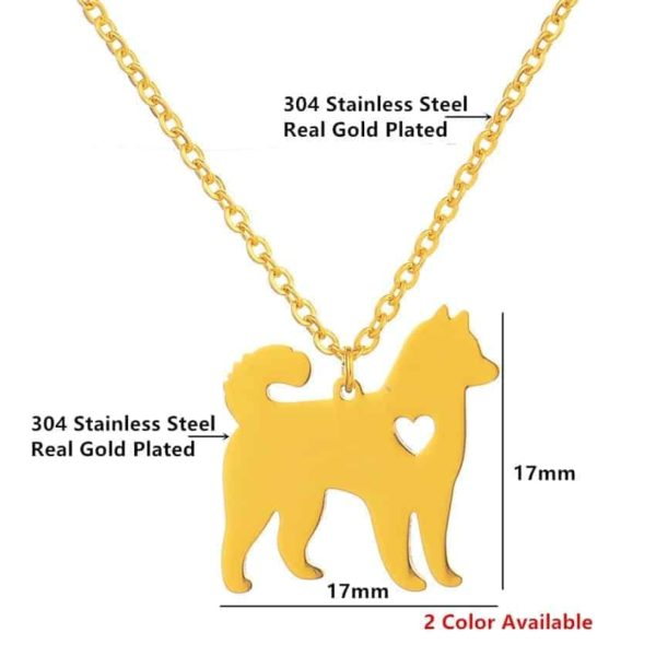 Lovely Pet Dog Necklace Animal Style Hollow Out Heart Jewelry 3