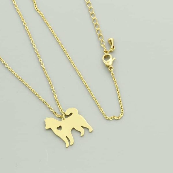 Lovely Pet Dog Necklace Animal Style Hollow Out Heart Jewelry 6
