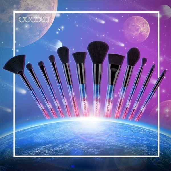 Docolor 12PCS Galaxy Makeup Brushes Professional Sky Night Handle Synthetic Hair with Gift Box 6