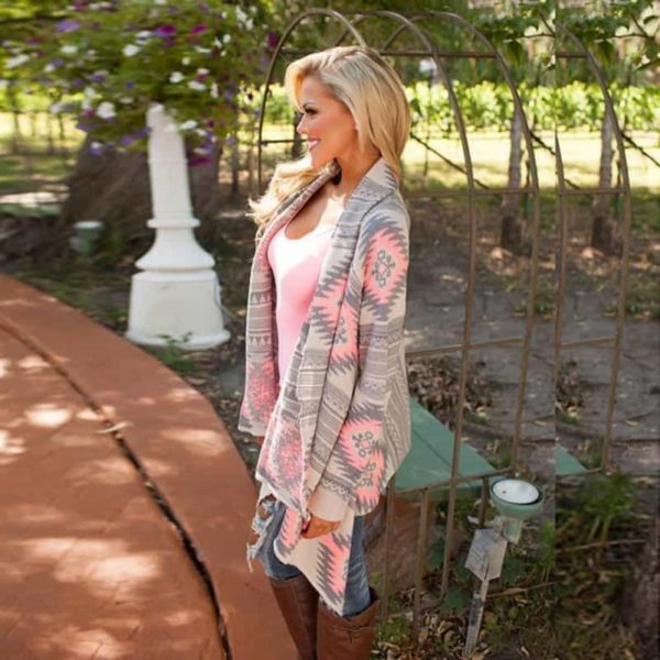 Kimono Cardigan Asymmetrical Long Sleeves Blouse 2