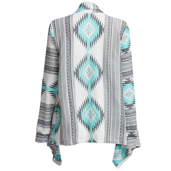 Kimono Cardigan Asymmetrical Long Sleeves Blouse 4