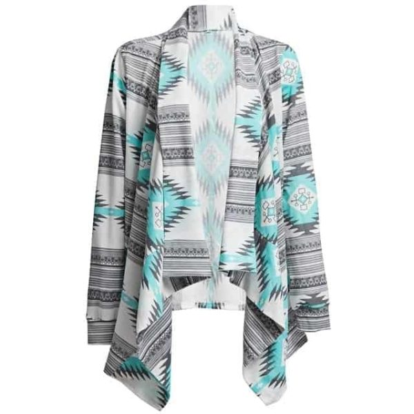 Kimono Cardigan Asymmetrical Long Sleeves Blouse 6