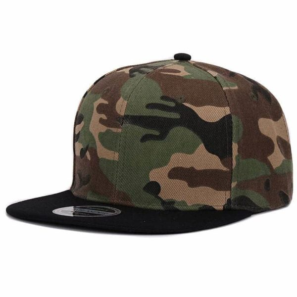 Camouflage Snapback Polyester Cap Baseball Cap 2