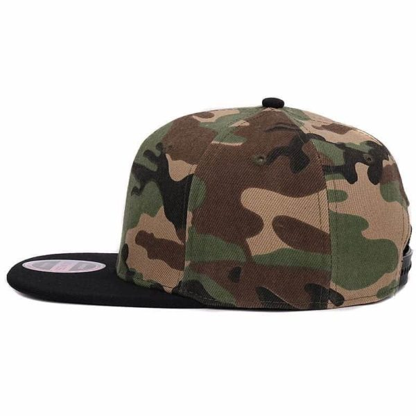 Camouflage Snapback Polyester Cap Baseball Cap 4