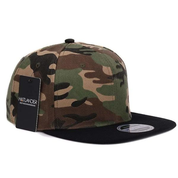 Camouflage Snapback Polyester Cap Baseball Cap 6