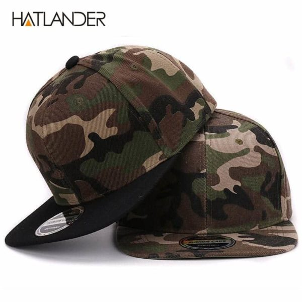 Camouflage Snapback Polyester Cap Baseball Cap 1
