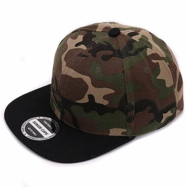 Camouflage Snapback Polyester Cap Baseball Cap 7