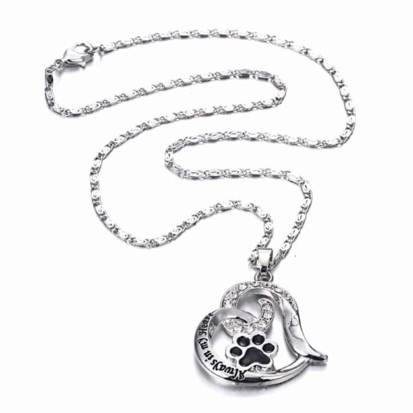 """Heart Love Engraved """"Always in my Heart"""" Necklaces & Pendant 5"""