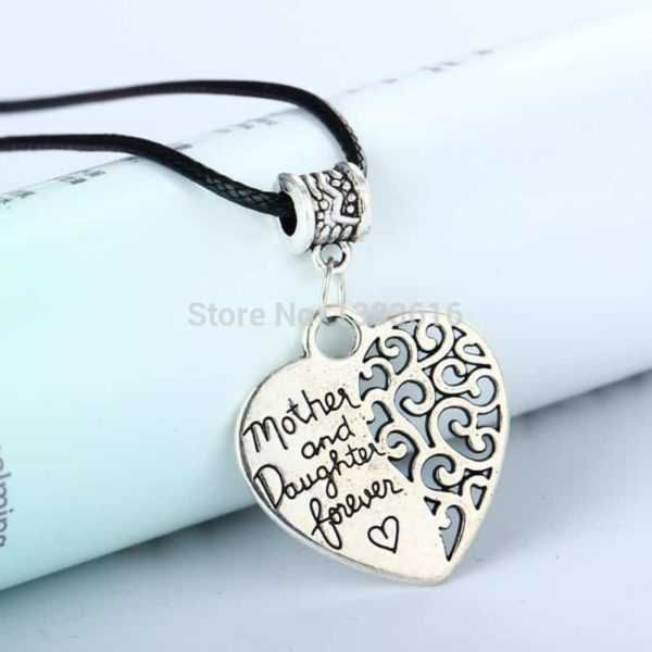 Heart Vintage Silver Plated Pendant Popular Mother And Daughter Forever Love 2