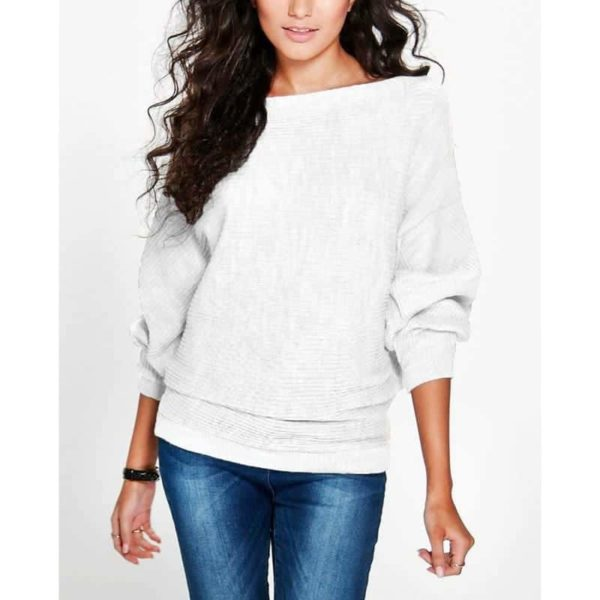 Casual Women Sweater Soft Pullovers Vintage Tops 3