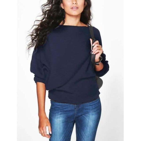 Casual Women Sweater Soft Pullovers Vintage Tops 8