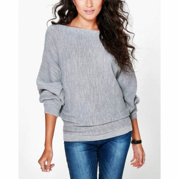 Casual Women Sweater Soft Pullovers Vintage Tops 4