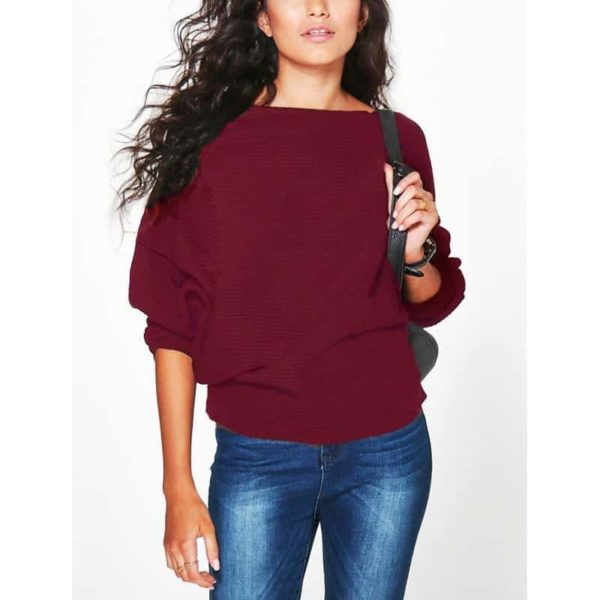 Casual Women Sweater Soft Pullovers Vintage Tops 6