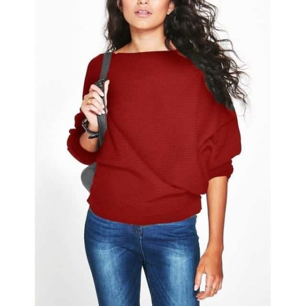 Casual Women Sweater Soft Pullovers Vintage Tops 11