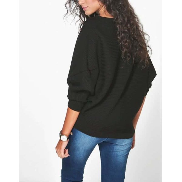 Casual Women Sweater Soft Pullovers Vintage Tops 2