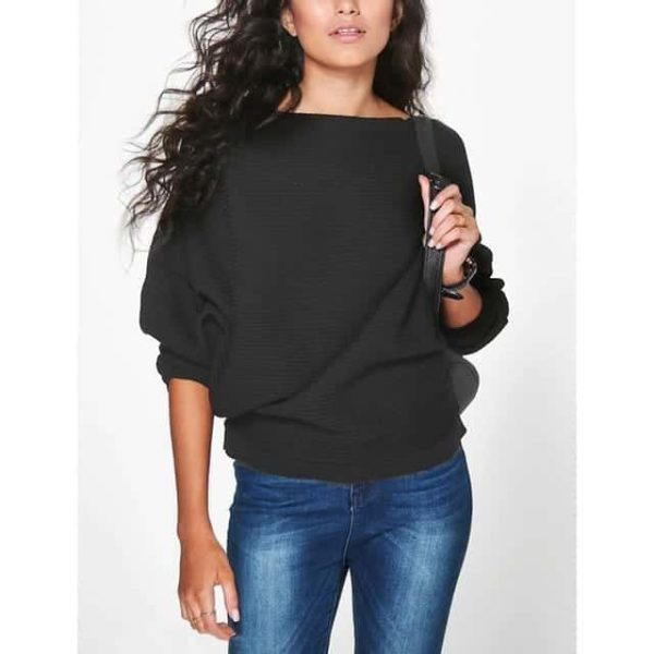 Casual Women Sweater Soft Pullovers Vintage Tops 7