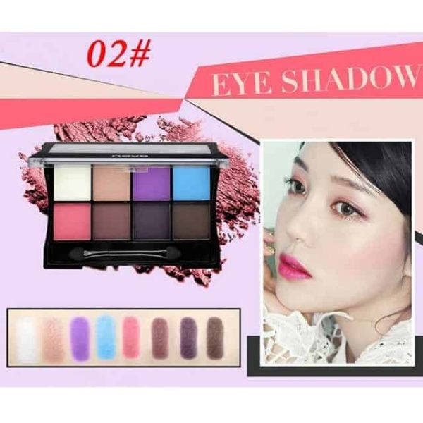 Makeup Palettes Cosmetic With Brush 9