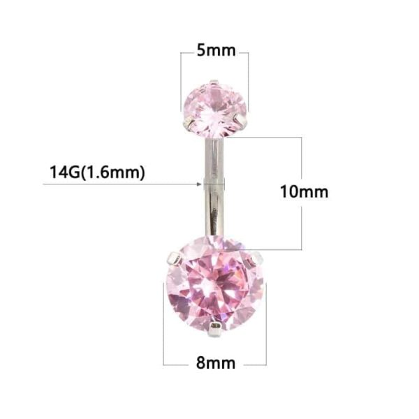 New Zircon Jeweled Style Belly Button Ring 1
