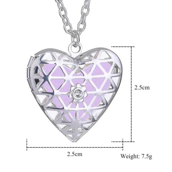 Openable Pendant Heart Love Aromatherapy Locket Essential 4