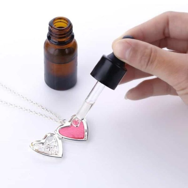 Openable Pendant Heart Love Aromatherapy Locket Essential 5