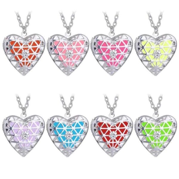 Openable Pendant Heart Love Aromatherapy Locket Essential 6