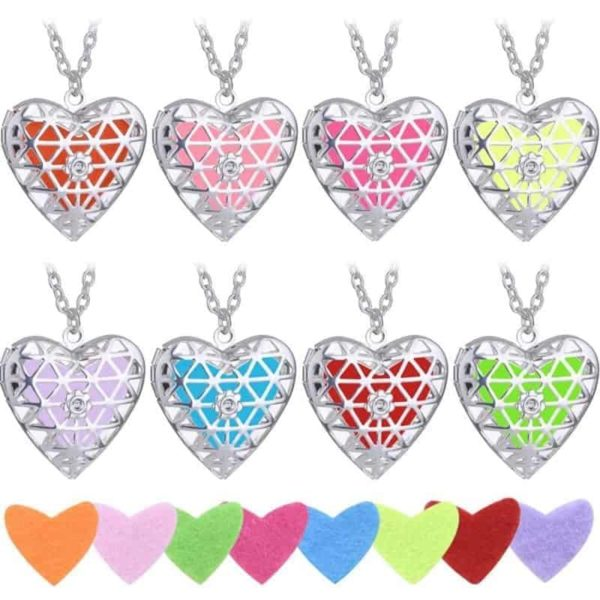 Openable Pendant Heart Love Aromatherapy Locket Essential 1