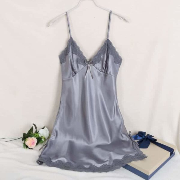 Sexy Silk Satin Night Dress 4