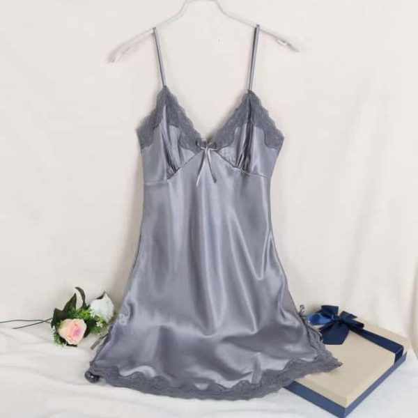 Sexy Silk Satin Night Dress 10