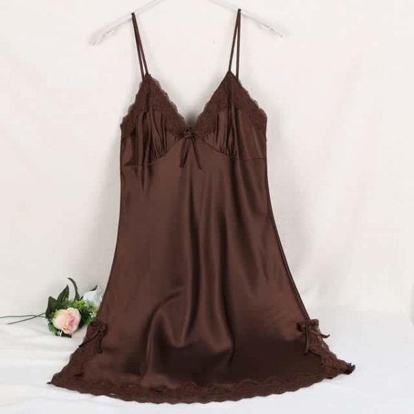 Sexy Silk Satin Night Dress 11