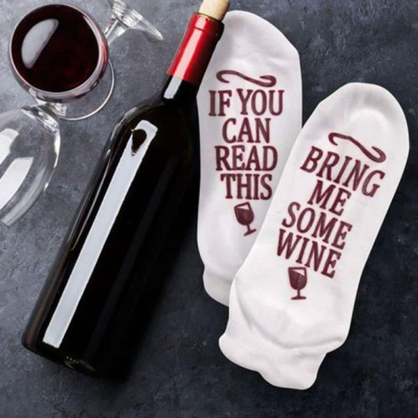 If You Can Read This Bring Me Some Wine Socks 1