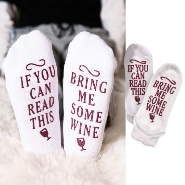 If You Can Read This Bring Me Some Wine Socks 2